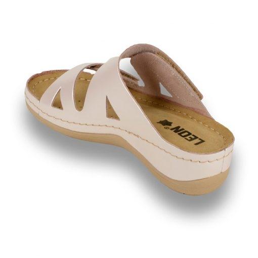 Papuci confortabili dama Leon 906 Perla 2