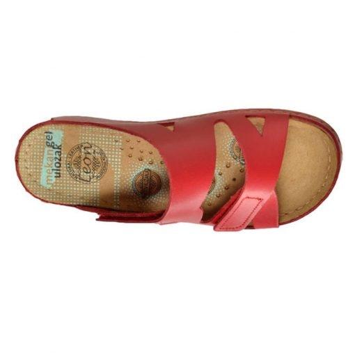 Papuci confortabili dama Leon 906 Rosu 4