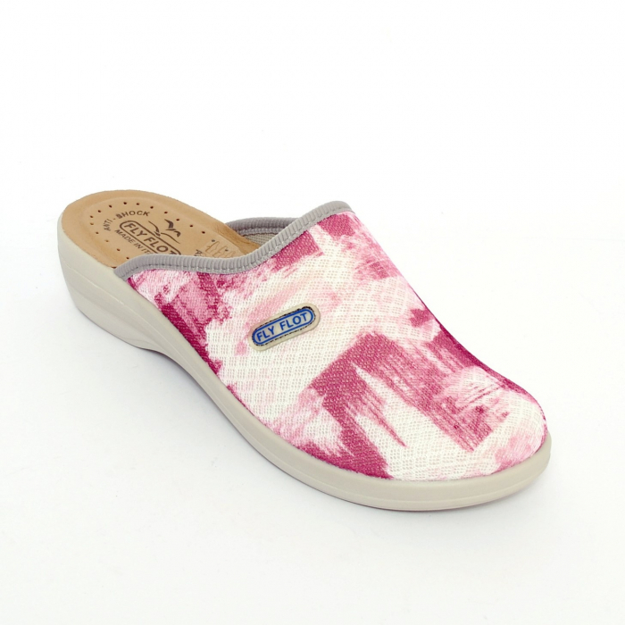 Papuci confortabili Fly Flot 154 roz [0]