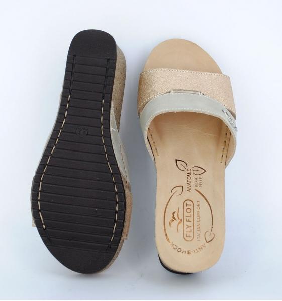 Papuci confortabili Fly Flot EXS0404 Bej 2