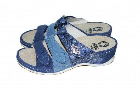 Papuci cu talpa ortopedica 701-18 Albastru 2