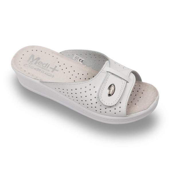 Papuci dama Medi+ 312SB Alb 0
