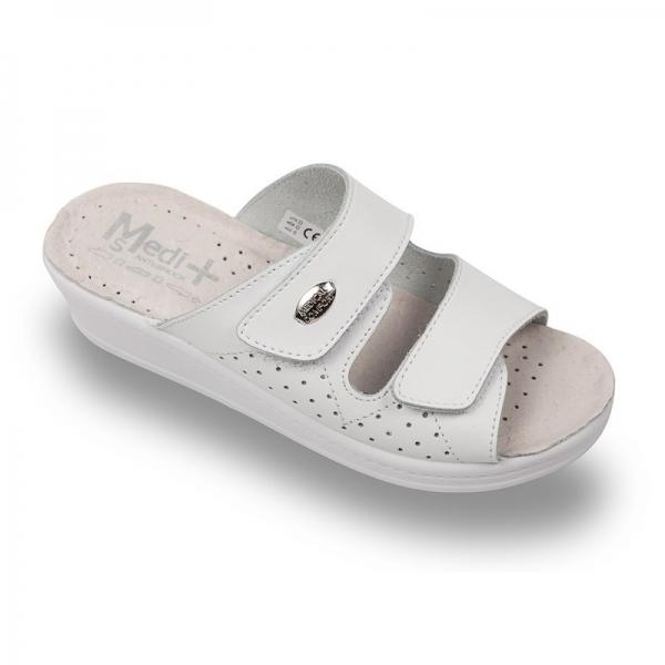 Papuci dama Medi+ 410SB Alb 0