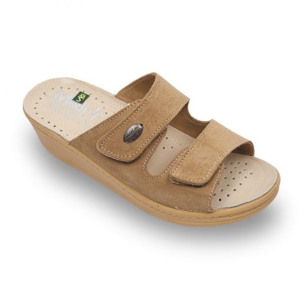 Papuci dama Medi+ 410SV Bej 0