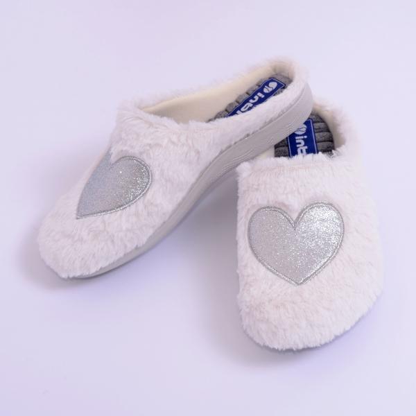 Papuci de casa Dama EC65 Alb 1