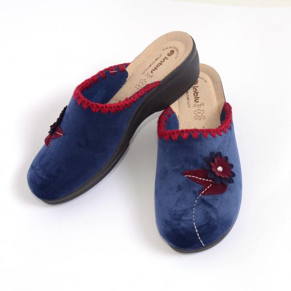Papuci de casa Dama BJ110 Blue 3