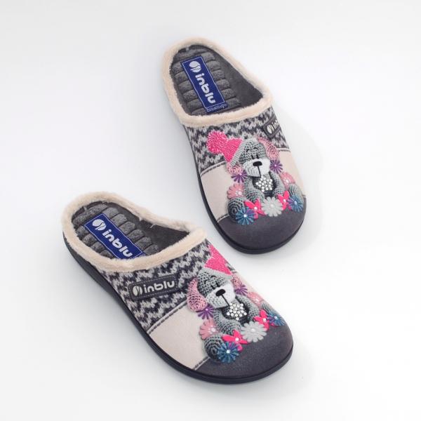Papuci de casa Dama EC49 Grigio 1