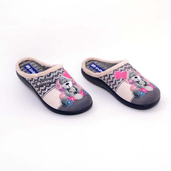 Papuci de casa Dama EC49 Grigio 2