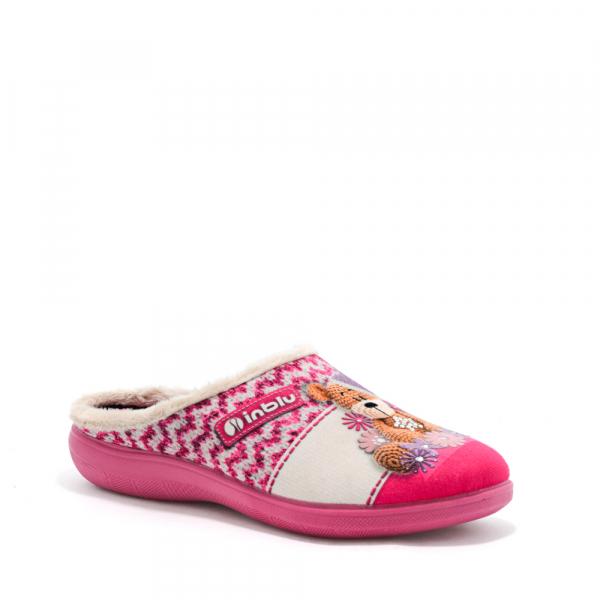 Papuci de casa Dama EC49 Rosa 0
