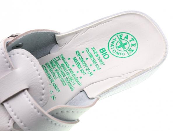 Papuci din piele ecologica DF1803WH 3