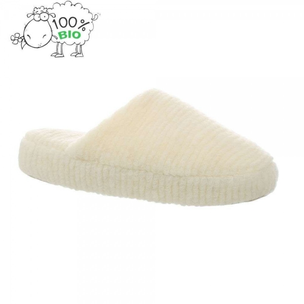 Papuci de casa lana PAN-1-201-Alb 0