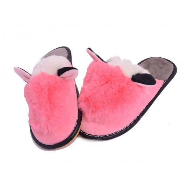 Papuci de casa Roz 0