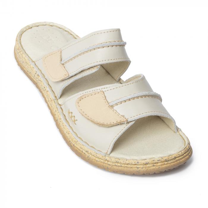 Papuci din piele naturala 314 Bej [2]