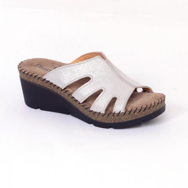 Papuci din piele naturala 6080 Grey 3