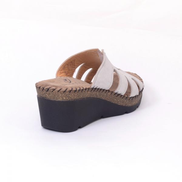 Papuci din piele naturala 6080 Grey 1
