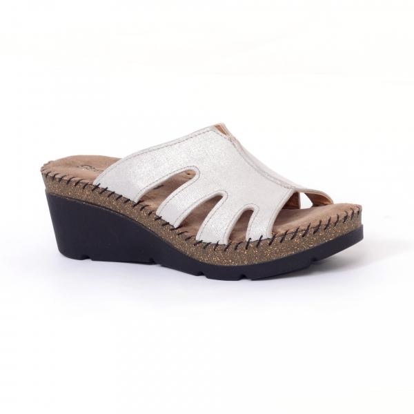 Papuci din piele naturala 6080 Grey 0