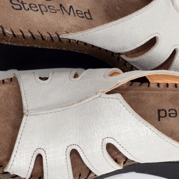 Papuci din piele naturala 6080 Grey 4