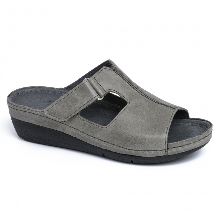 Papuci medicali din piele naturala 280 Gri 0