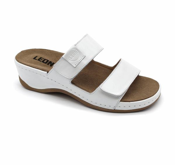 Papuci brant detasabil Leon 2020 Alb 0