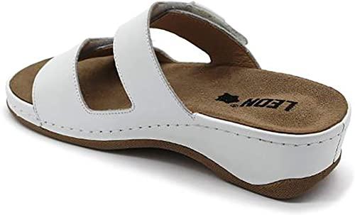Papuci brant detasabil Leon 2020 Alb 2