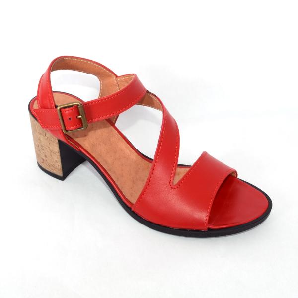 Sandale din piele naturala 250 Rosu 0