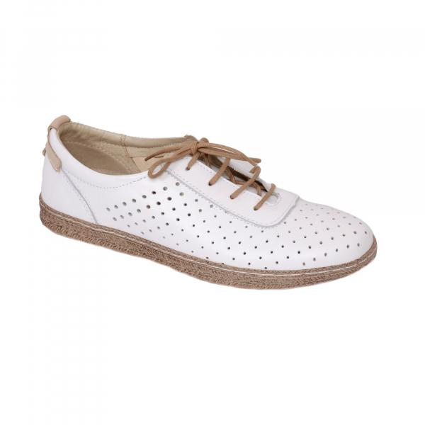 Pantofi casual dama 459 Alb 0