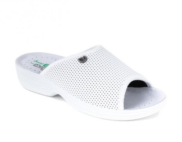 Papuci confortabili EcoBio 201129 Alb 0