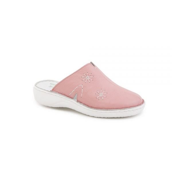 Papuci medicinali de piele Medline, Roz 1
