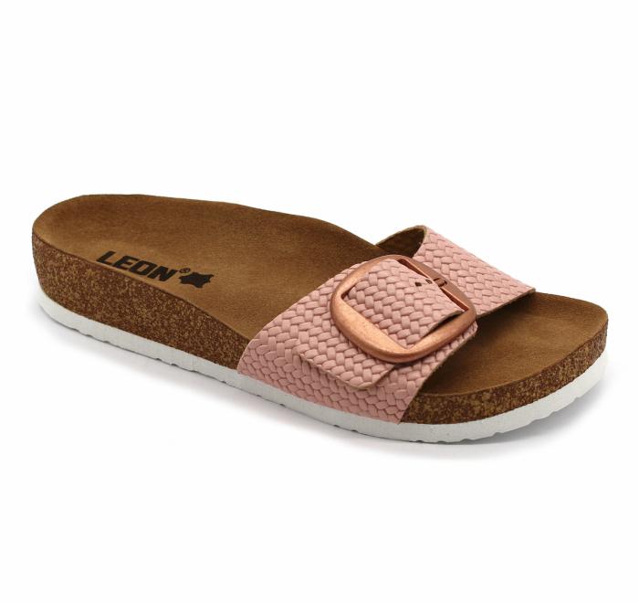 Papuci din piele naturala Leon 4020 Rose [0]