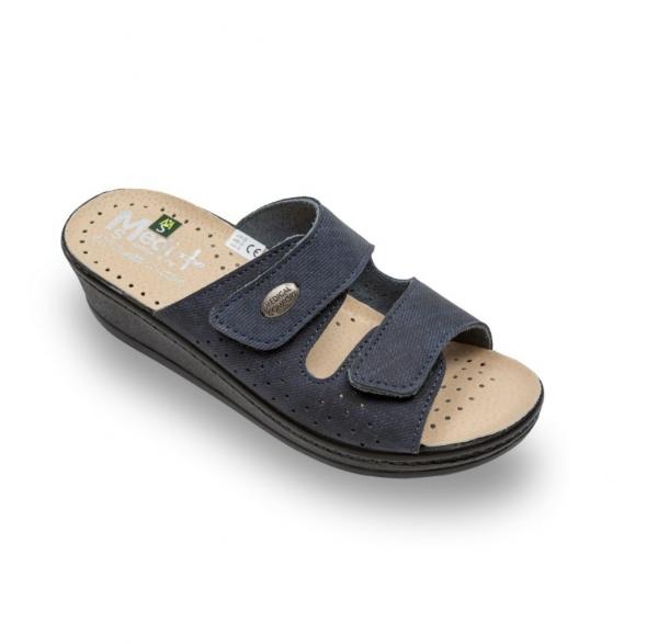 Papuci confort dama  Medi+ 410SJ Albastru jeans 0