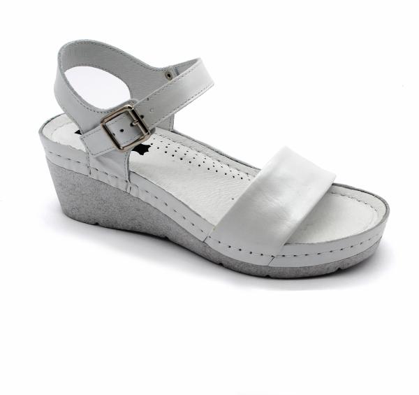 Sandale confortabile 1070 Alb 0