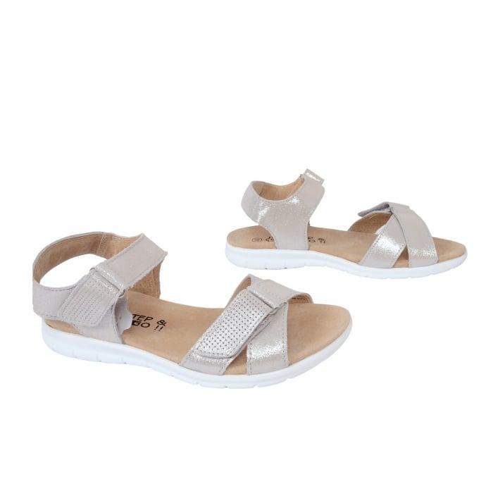 Sandale confortabile B826274 Pewter 1