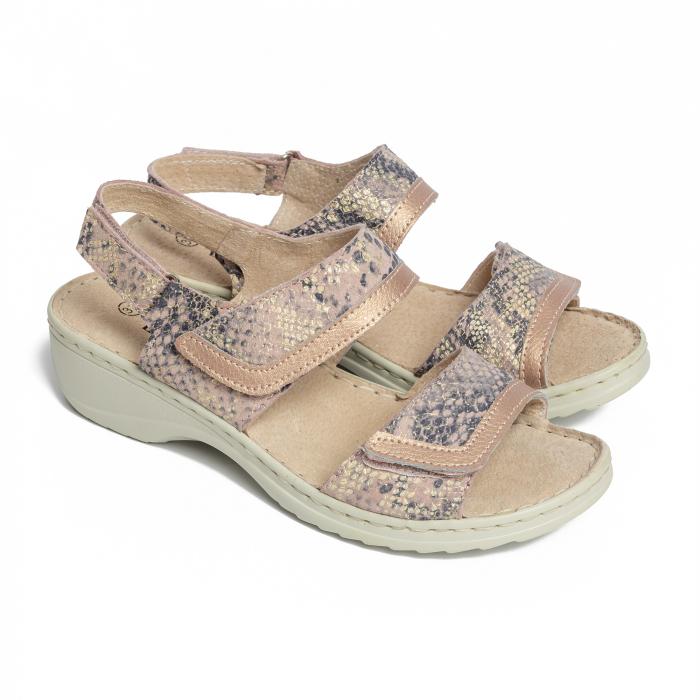 Sandale confortabile B826284 Rose-Gold [0]