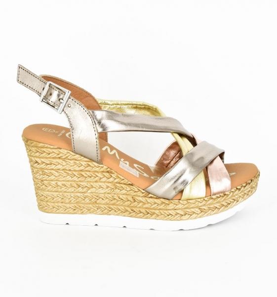 Sandale confortabile cu platforma EXS0658 Auriu 1