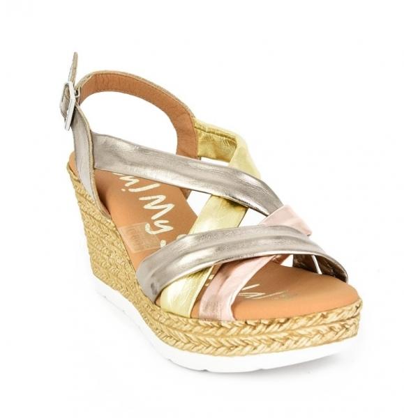 Sandale confortabile cu platforma EXS0658 Auriu 3