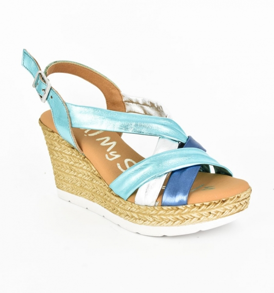 Sandale confortabile cu platforma EXS0658 Verde 0