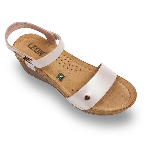 Sandale confortabile Leon 1015 Perla [0]