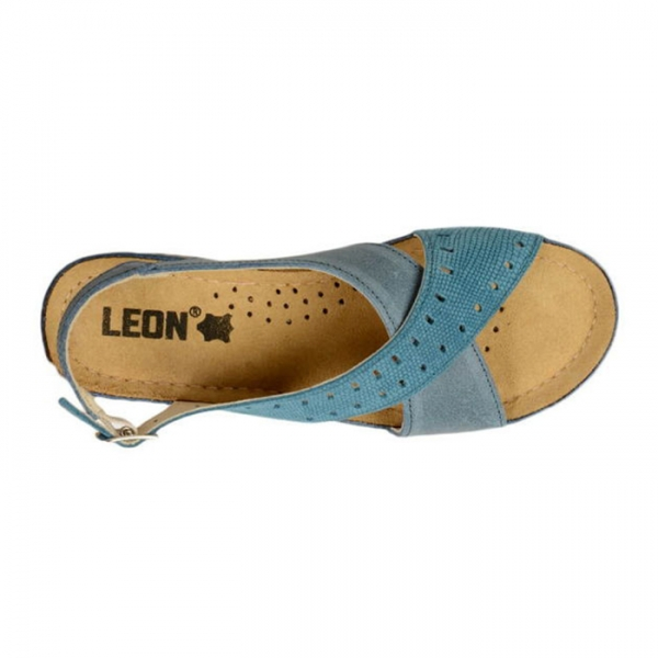 Sandale confortabile Leon 1030 Albastru 3