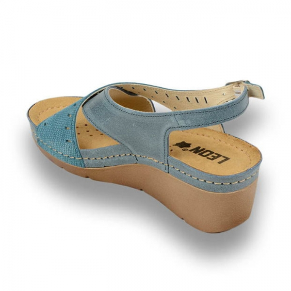 Sandale confortabile Leon 1030 Albastru 2