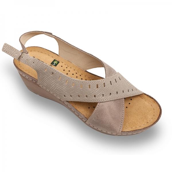 Sandale confortabile Leon 1030 Gri-Maroniu 0
