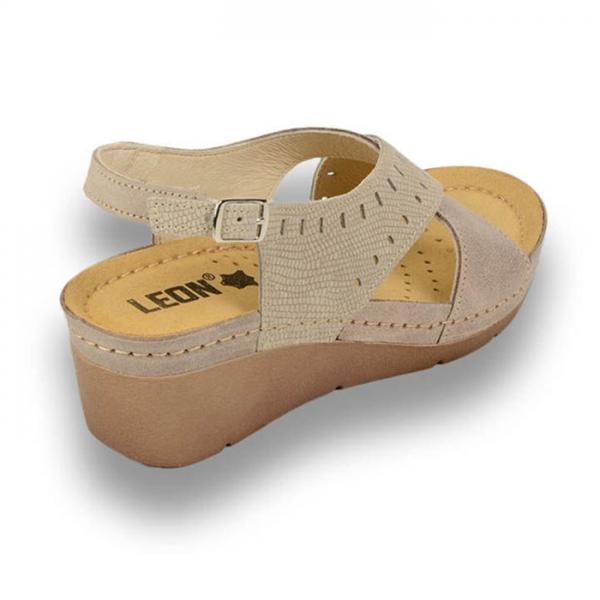 Sandale confortabile Leon 1030 Gri-Maroniu 2