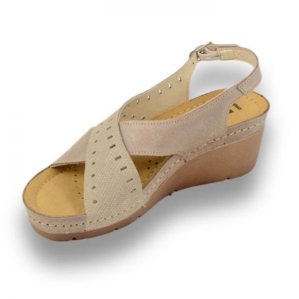 Sandale confortabile Leon 1030 Gri-Maroniu 1