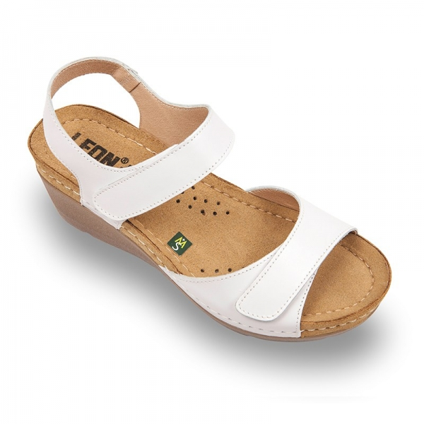Sandale confortabile Leon 1041 Alb 0
