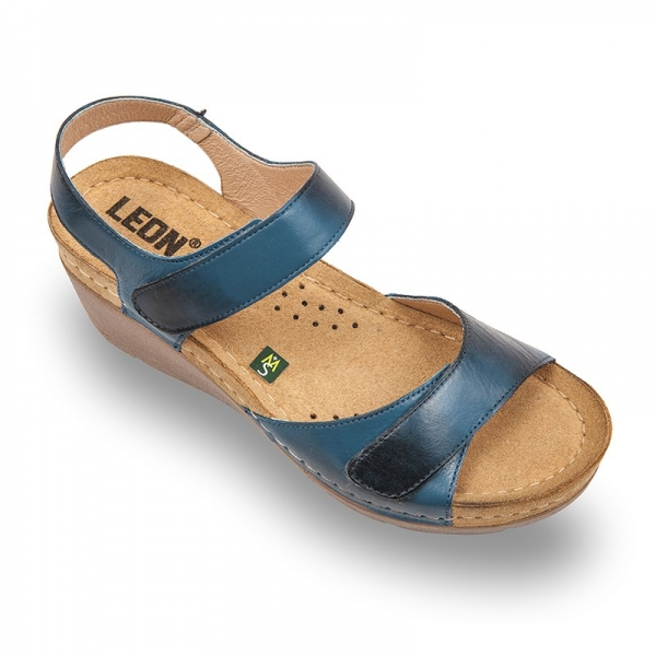 Sandale confortabile Leon 1041 Albastru 0