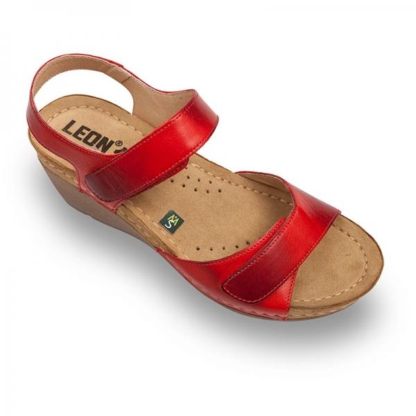 Sandale confortabile Leon 1041 Rosu 0