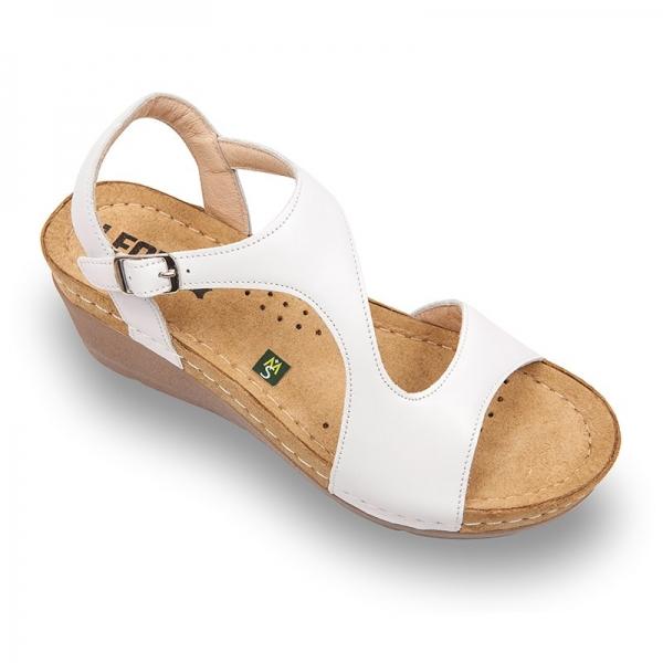 Sandale confortabile Leon 1050 Alb 0
