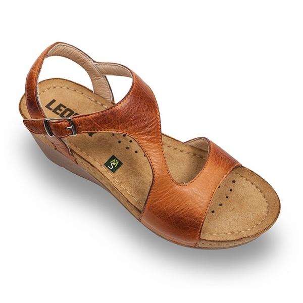 Sandale confortabile Leon 1050 Maro 0