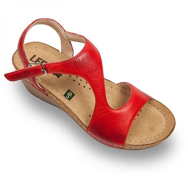 Sandale confortabile Leon 1050 Rosu 0
