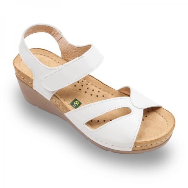 Sandale confortabile Leon 1056 Alb 0