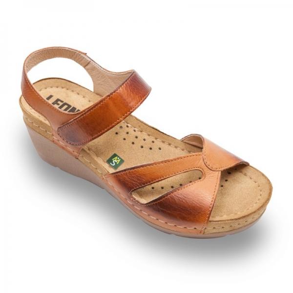 Sandale confortabile Leon 1056 Maro 0